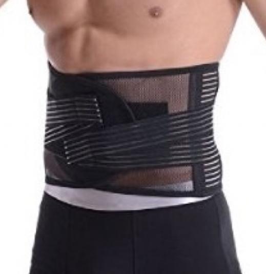 間違った腰痛ベルト装着方法